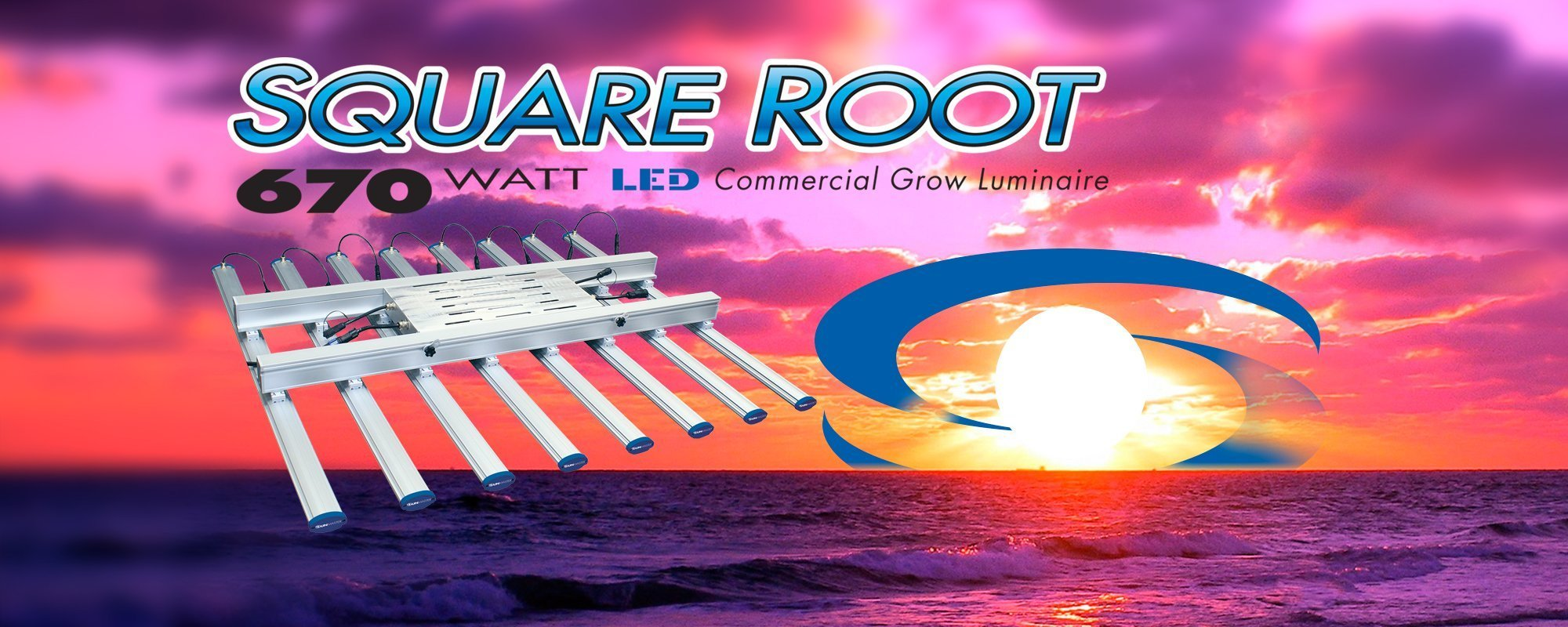 SUNMASTER Square Root 670 Watt LED Commercial Grow fixture